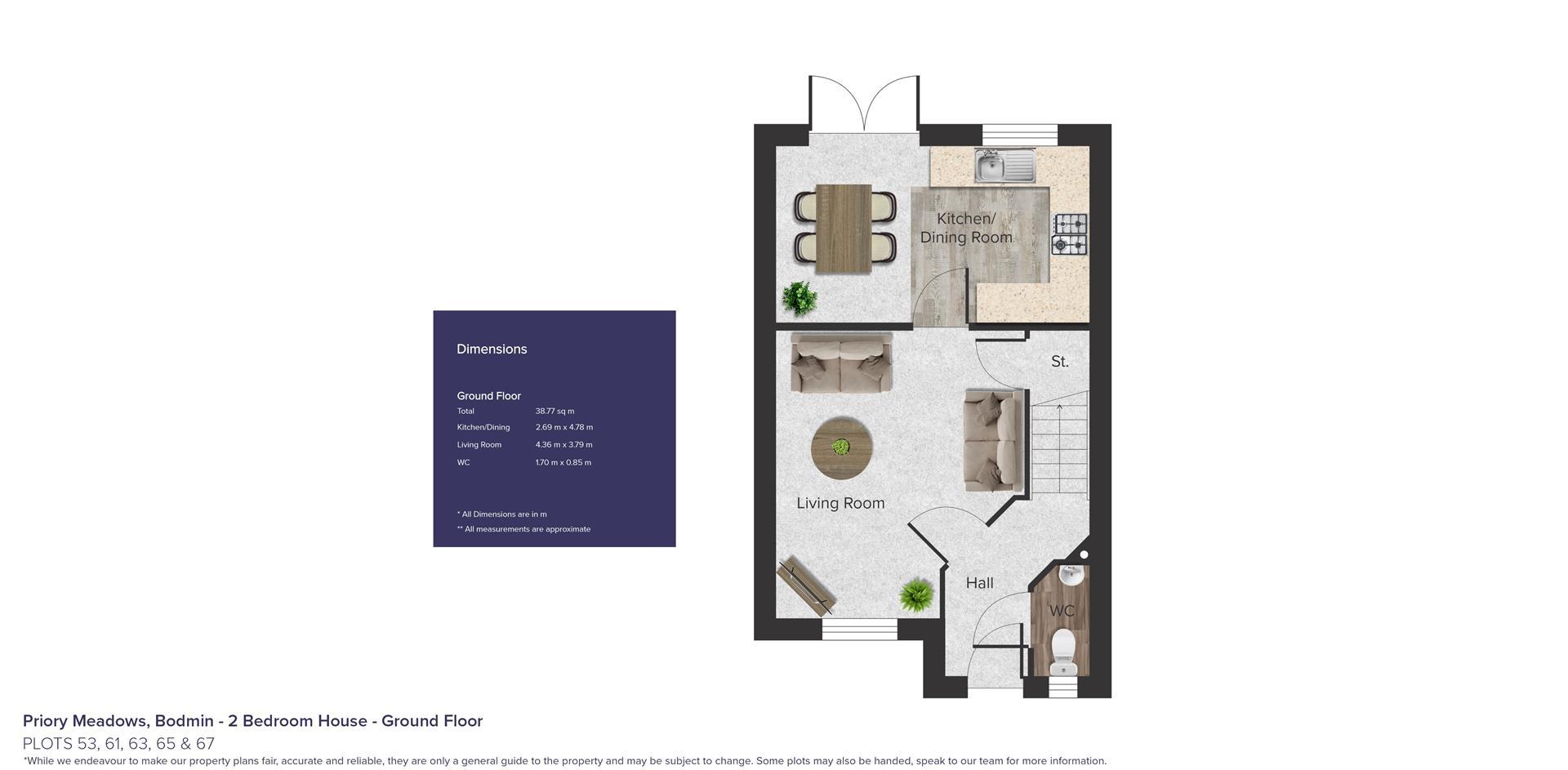 Priory Meadows, Bodmin_Plots 53, 61, 63, 65 & 67_G